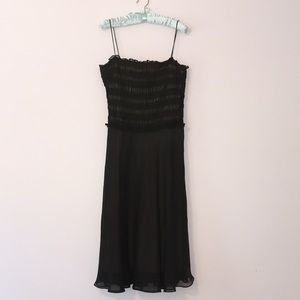 LAUNDRY Black chiffon overlay dress